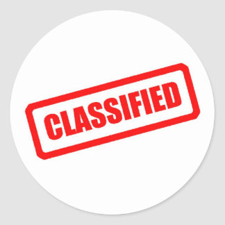 Classified Classic Round Sticker