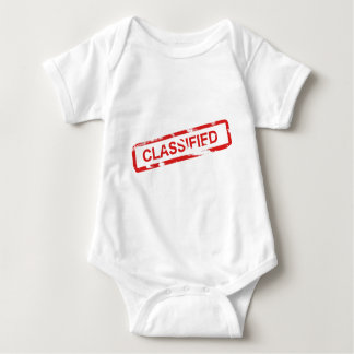 Classified Stamp Baby Bodysuit