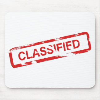 Classified Stamp Mouse Pad