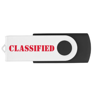 Classified USB 3.0 Swivel USB 3.0 Flash Drive