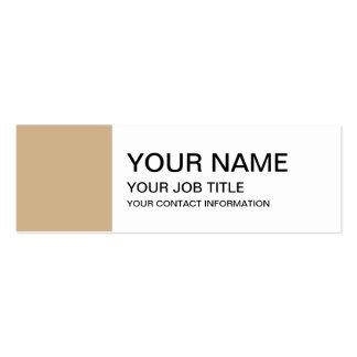 Classique bronzage coloré carte de visite petit format