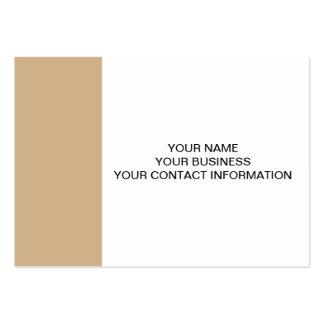 Classique bronzage coloré carte de visite grand format