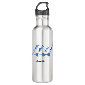 """ClassofHC """"Finish What You Started"""" Water Bottle"""