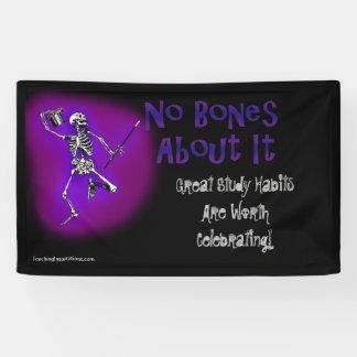Classroom Banner Dancing Skeleton Study Habits