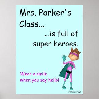 Classroom door Poster / sign