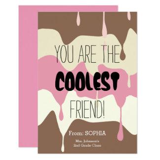 Classroom Friendship Card with Ice Cream