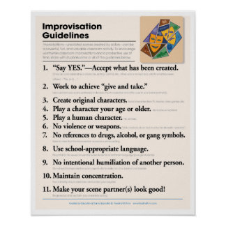 Classroom Improvisation Guidelines Poster