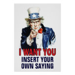 Classroom Poster: I Want You - CUSTOMIZE -
