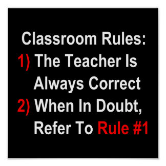 Classroom Rules (dark) Poster