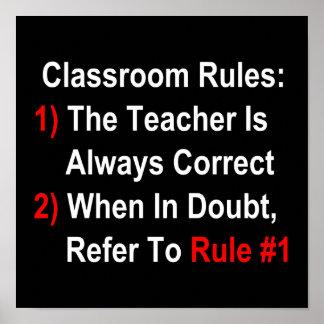 Classroom Rules (dark) Poster
