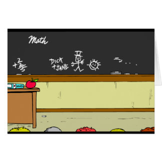 Classroom Scene Card