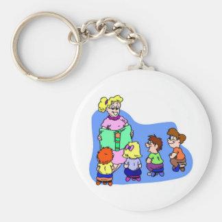 Classroom Storytime Basic Round Button Keychain