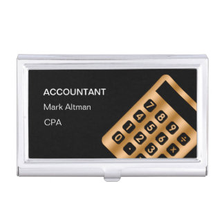 Classy Accountant Business Card Case