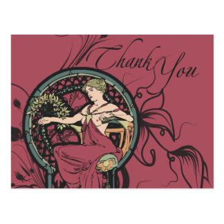 Classy Alphonse Mucha Thank you Cards