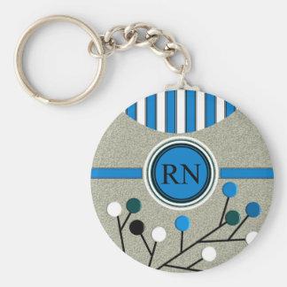 Classy and Artsy Registered Nurse Designs Keychain