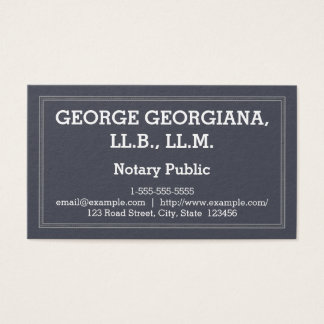 Classy and Modern Notary Public Business Card