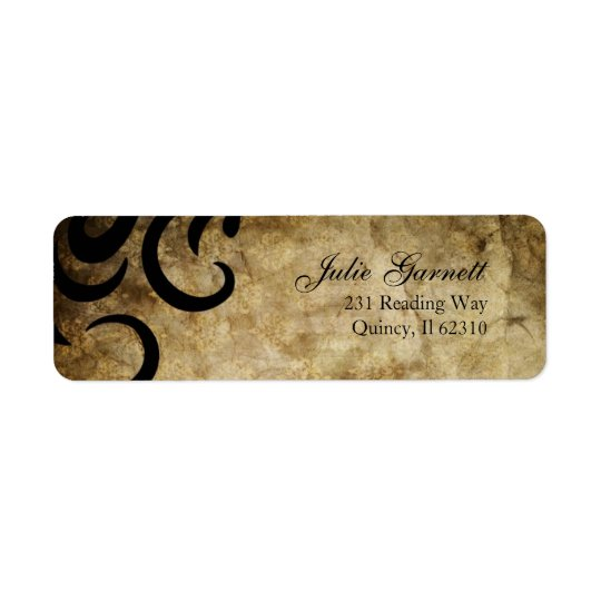 Classy and Sophisticated Swirl Fluer Return Address Label