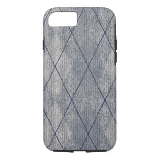 Classy and Stylish Gray Blue Argyle Pattern iPhone 7 Case
