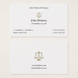 Classy Attorney at Law | Lawyer Business Card