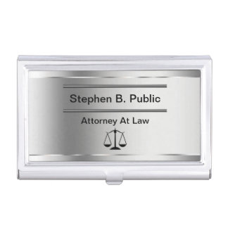 Classy Attorney Business Card Holder