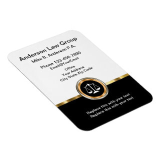 Classy Attorney Magnetic Businesscards Magnet