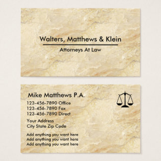 Classy Attorney Profile Cards Granite Look