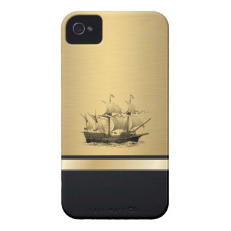Classy attractive Golden look Ancient ship Case-Mate iPhone 4 Cases