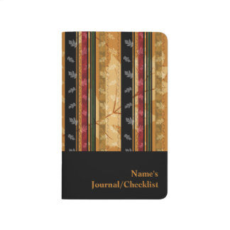 Classy Autumn Leaf and Pattern Design Journal