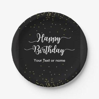 Classy Birthday Party Plates