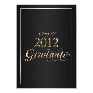 Classy Black and Gold 2012 Graduate Invitation
