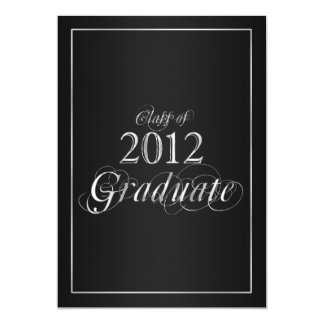 Classy Black and Silver 2012 Graduate Invitation