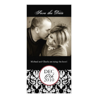 Classy Black and White Save the Date Photocard Customized Photo Card