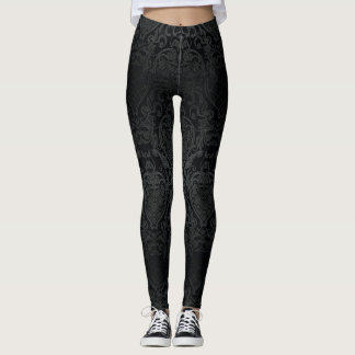 classy black baroque pattern for leggings