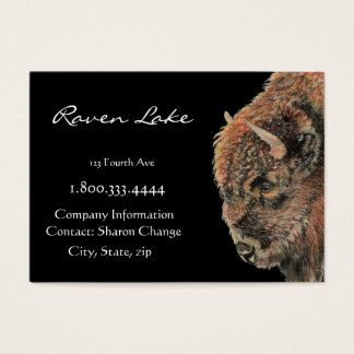 Classy Black Bison, Buffalo  Business Card