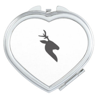 Classy black deer mirror travel mirrors