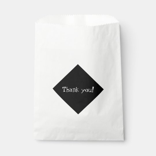 Classy Black Diamond Thank You! Favour Bag