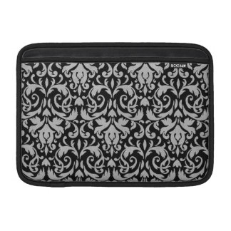 Classy Black & Grey Damask MacBook Air Sleeve