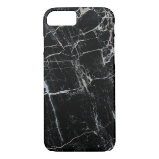 Classy Black Marble iPhone 7 case Barely there