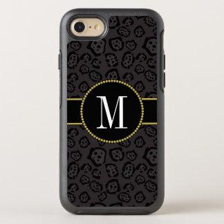 Classy Black Panther Jaguar Cool Gold Monogram OtterBox Symmetry iPhone 8/7 Case