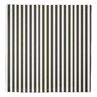 Classy Black Striped Duvet Cover