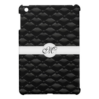 Classy Black Tufted Monogrammed IPAD Mini Case