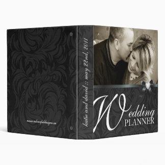 Classy Black Wedding Planner Vinyl Binders