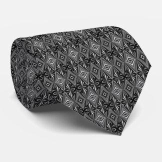 Classy Black White Gray Pattern Tie