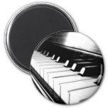 Classy Black & White Piano Photography Fridge Magnet