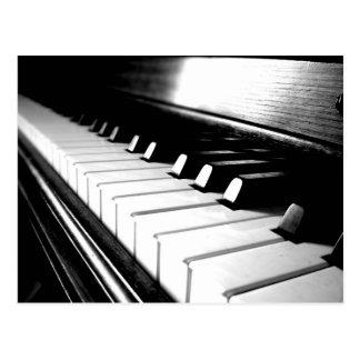 Classy Black & White Piano Photography Postcard