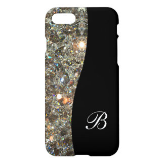 Classy Bling Monogram Design iPhone 8/7 Case