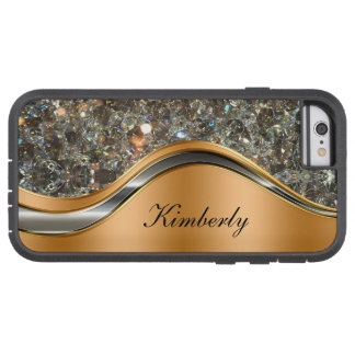 Classy Bling Monogram Design Tough Xtreme iPhone 6 Case