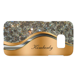 Classy Bling Monogram Style Samsung Galaxy S7 Case