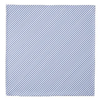 Classy Blue Diagonal Stripes Duvet Cover