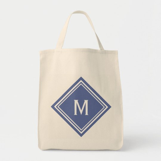 Classy Blue Diamond Monogram